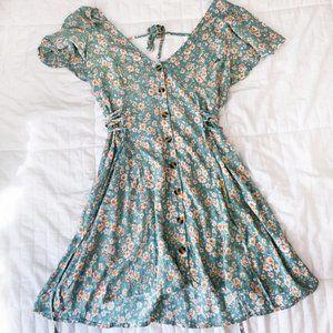Band of Gypsies Mini Floral Short Summer Dress